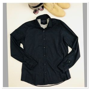 Other - Boutique Slim Fit button down polka dot shirt